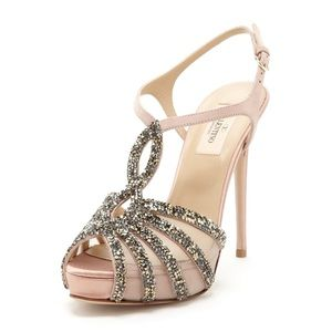 VALENTINO GARAVANI Embellished T-Strap Sandal